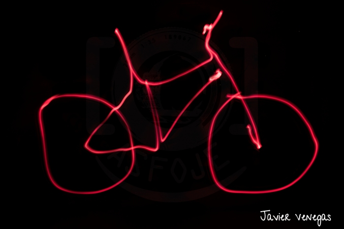Light Painting - Bicicleta