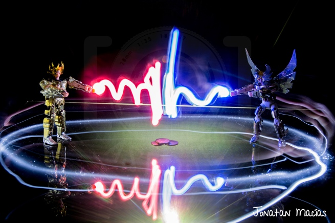 Light Painting - Luchando por el oro